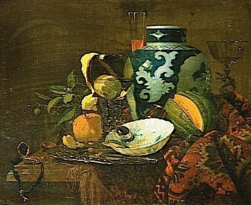 Still Life with Chinese Vase | Willem Kalf | Oil Painting