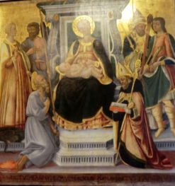 Virgin and Child with Six Saints | Neri di Bicci | Oil Painting