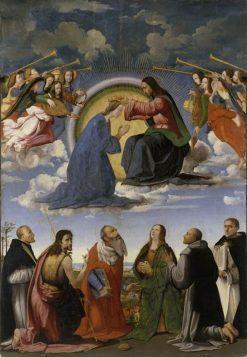 Coronation of the Virgin with Six Saints | Ridolfo Ghirlandaio | Oil Painting