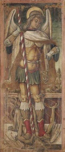 Saint Michael   Vittore Crivelli   Oil Painting