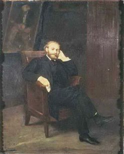 Portrait of Édouard Manet | Alphonse Legros | Oil Painting
