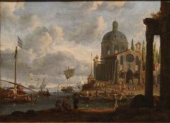 Seaport | Abraham Jansz. Storck | Oil Painting