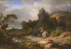 Philoctete dans l'Ile de Lemnos | Achille Etna Michallon | Oil Painting