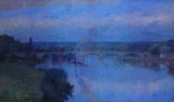 The Seine at Maisons-Lafitte   Albert Lebourg   Oil Painting