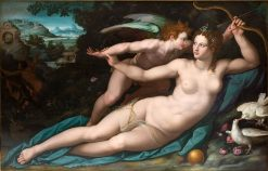 Venus and Cupid (Montpellier Version) | Alessandro Allori | Oil Painting