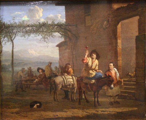 Two Mule Riders at an Inn | Carel Dujardin | Oil Painting