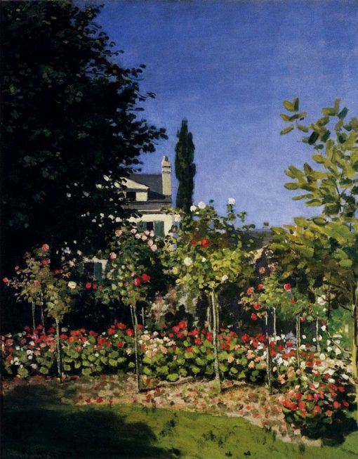 The Garden and Flowers at Sainte-Adresse | Claude Monet | Oil Painting