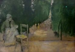 Nourishment in the Luxembourg Gardens | Edgar Degas | Oil Painting