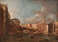 Ponte Rialto in Venice | Francesco Guardi | Oil Painting
