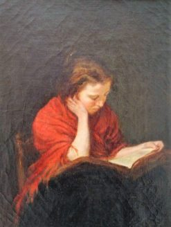 Femme lisant (Woman Reading) | Francois Bonvin | Oil Painting