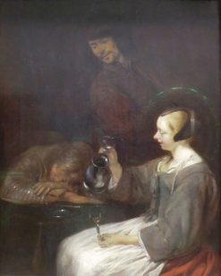 Young Dutchman after Too Much Drink | Gerard ter Borch | Oil Painting