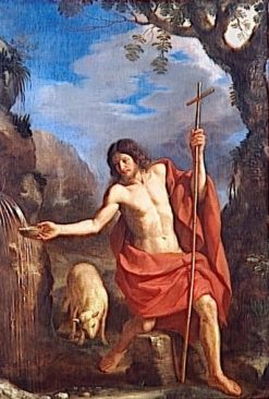 Saint John the Baptist at the Spring | Guercino | Oil Painting