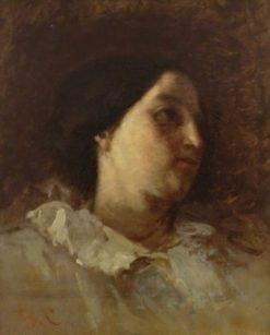 Study of the Head of a Woman (H Bonion) | Gustave Courbet | Oil Painting