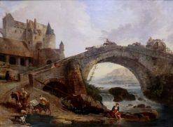 Le pont (The Bridge) | Hubert Robert | Oil Painting