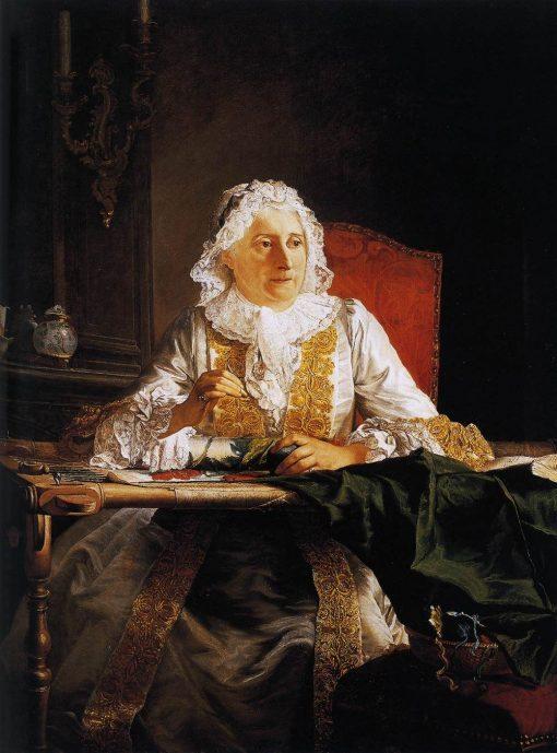 Portrait of Mme Crozat | Jacques AndrE Joseph Aved | Oil Painting