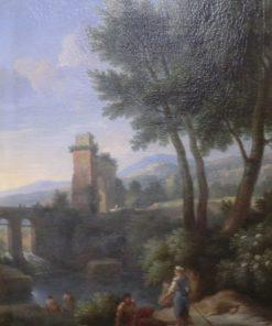 Landscape with Bridge | Jan Frans van Bloemen | Oil Painting