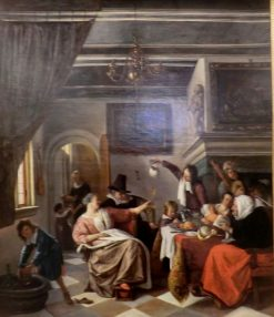 The Adults Sing whilst the Children Squeal | Jan Havicksz. Steen | Oil Painting