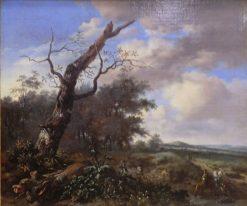 Landscape with Huntsmen | Jan Wijnants | Oil Painting
