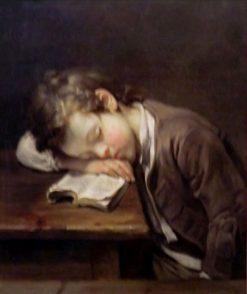 Le petit paresseux | Jean Baptiste Greuze | Oil Painting
