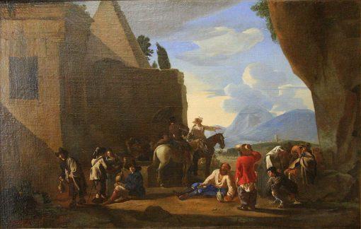La source purgative | Johannes Lingelbach | Oil Painting