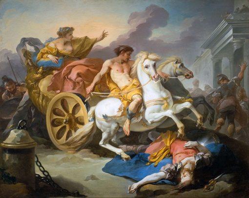 Tullie faisant passer son char sur le corps de son pere (Tullie and chariot mount her father's body)   Michel Francois DandrE Bardon   Oil Painting