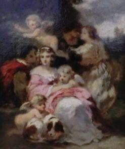 Jeune fille de temps de Louis XV | Narcisse Dìaz de la Peña | Oil Painting