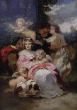 Jeune fille de temps de Louis XV   Narcisse Dìaz de la Peña   Oil Painting
