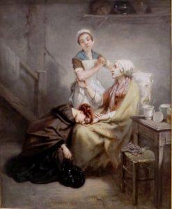 Le retour au village: L'enfant prodigue (The Return to the Village) | Octave Tassaert | Oil Painting