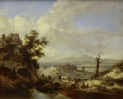 Gathering in a Landscape | Philips Wouwerman | Oil Painting