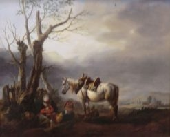 Labourer Resting | Philips Wouwerman | Oil Painting