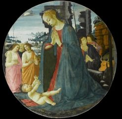 Adoration of th Infant with Three Angels