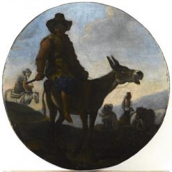 Landscape with Donkey | Jan Miel | Oil Painting