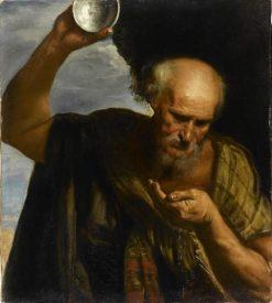 Diogene buvant (Diogenes Drinking) | Pier Francesco Mola | Oil Painting