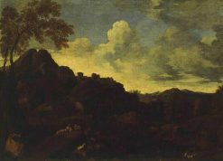 Landscape with a Sunset   Gaspard Dughet   Oil Painting