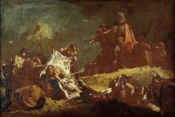 Alexander with the Body of Darius (sketch) | Giovanni Battista Piazzetta | Oil Painting