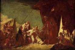 The Family of Darius with Alexander (sketch) | Giovanni Battista Piazzetta | Oil Painting