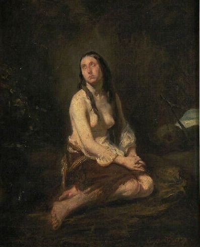 The Repentent Magdalen   Octave Tassaert   Oil Painting