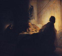 The Supper at Emmaus | Rembrandt van Rijn | Oil Painting