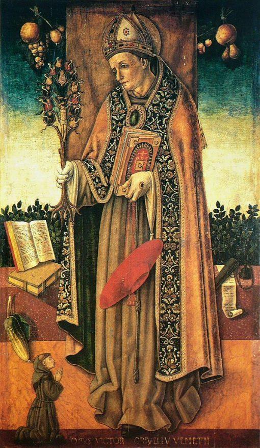 Saint Bonaventure tenant l'arbre de la Rédemption (St Bonaventure Holding the Branch of Redemption) | Vittore Crivelli | Oil Painting