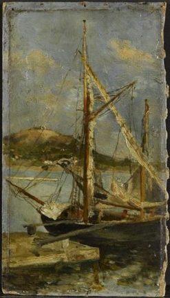 Boat on the Mediterranean | Adolphe Joseph Thomas Monticelli | Oil Painting