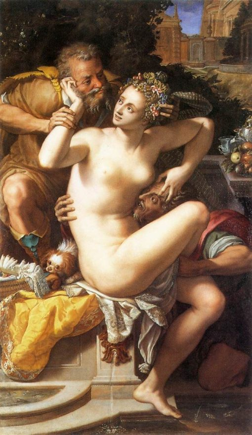 Susanna and the Elders   Alessandro Allori   Oil Painting