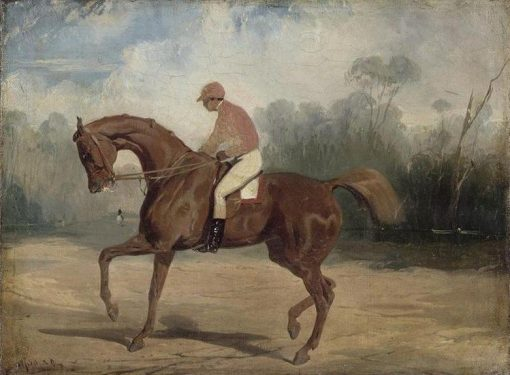 Racehorse and His Jockey | Alfred de Dreux | Oil Painting