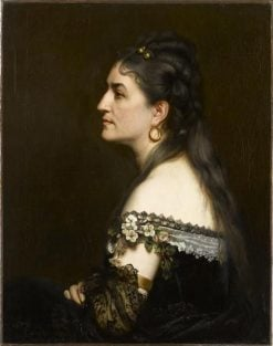 Portrait of a Woman Wearing a Low-Necked Dress | Charles Auguste Emile Durand | Oil Painting