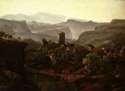 Village in the Mountains | Jean Victor Bertin | Oil Painting