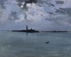 La Nuit sur la lagune (Night on the Lagoon) | Jules Bastien Lepage | Oil Painting