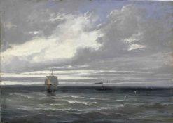 Temps gris sur la mer | Jules Coignet | Oil Painting