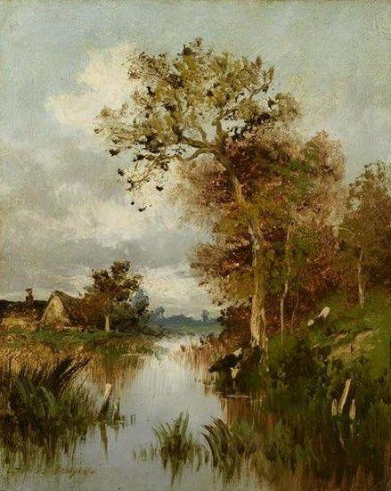 La Mare | Jules DuprE | Oil Painting