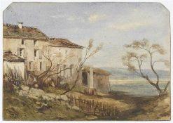 Maisons sur une petite élévation (Houses on an Incline) | Jules DuprE | Oil Painting
