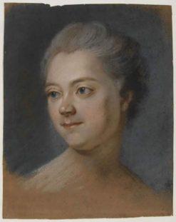 Mlle de Chastagner de Lagrange | Maurice Quentin de La Tour | Oil Painting