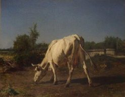 A Cow in the Pastures | Constant Troyon | Oil Painting